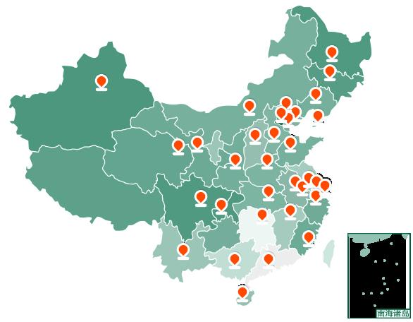 灌溉设备销售网络地图配图